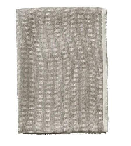 Washed Waffle Throw Grey