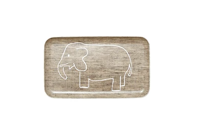 Kid tray square elephant