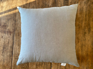 Medium Gray Washed Linen Pillow