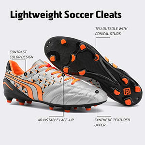 DREAM PAIRS Men/'s Cleats Football Soccer Shoes 6.5 471//Black//Grey