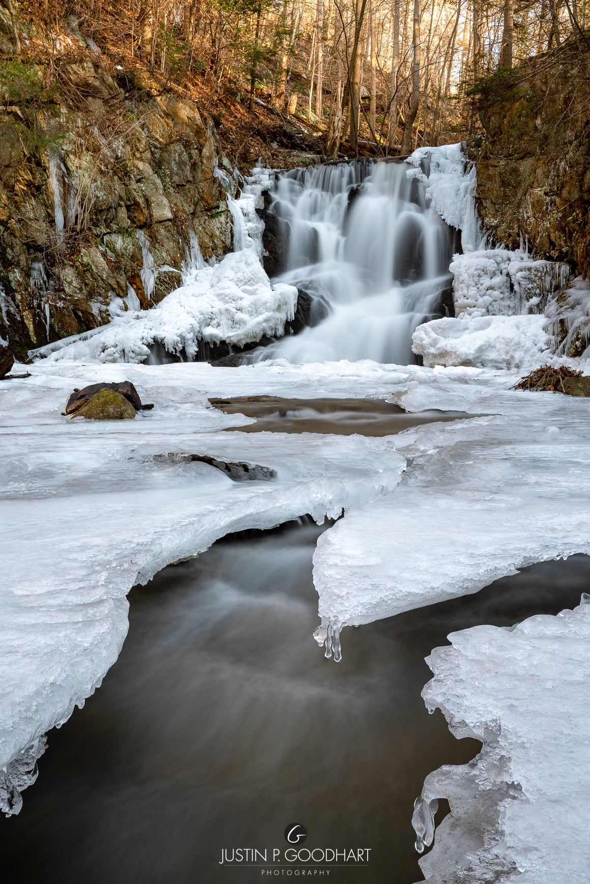 On Thin Ice - Indian Brook Falls