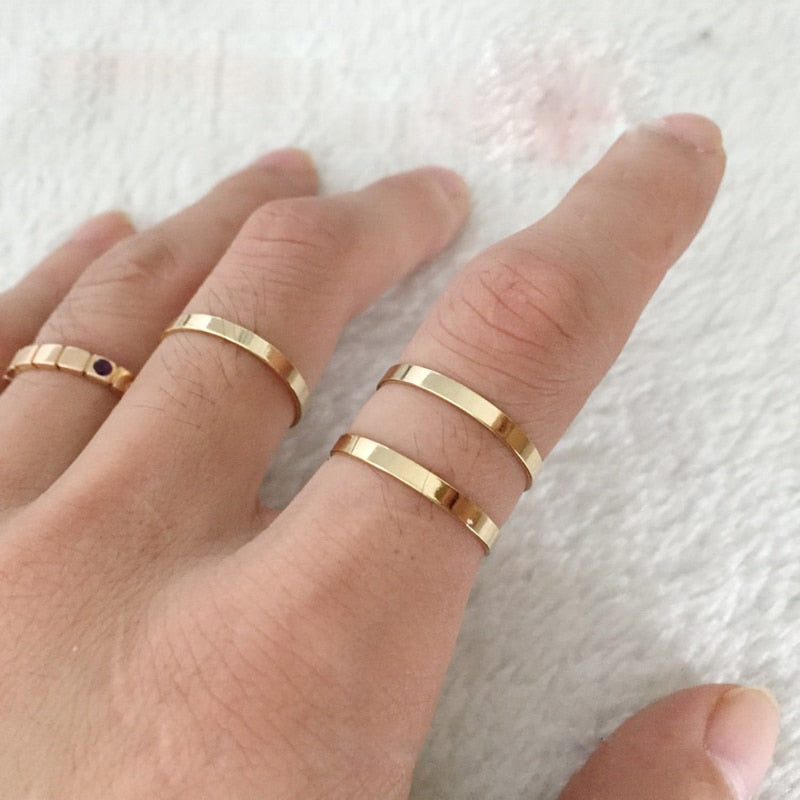 Gold Filled Knuckle Rings Indian Jewelry Anillos Mujer Boho Bague Femme Minimalism Anelli Donna Aneis Ring For Women