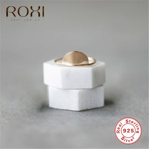 ROXI Boho 925 Sterling Silver Rings for Women Jewelry Geometric Half Moon Rings Finger Bague Femme Wedding Rings Engagement Gift