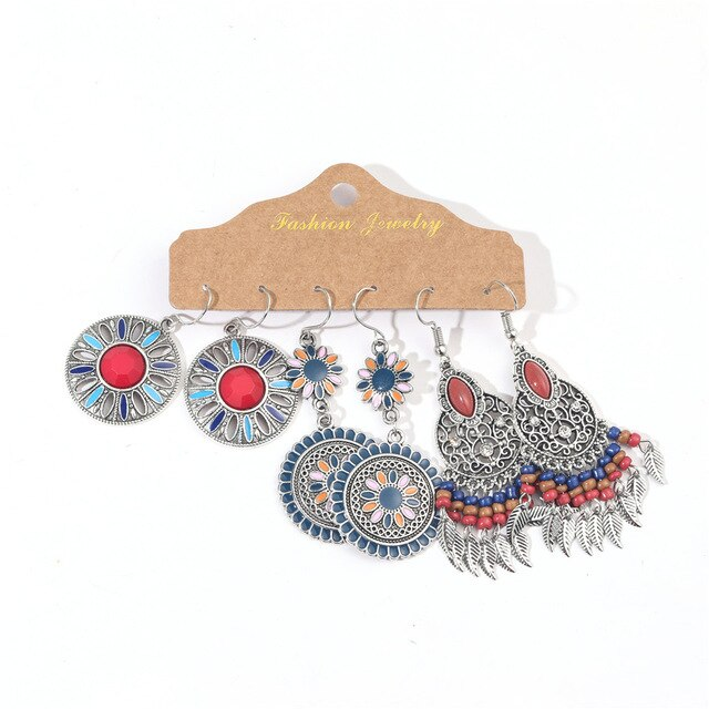 Multiple Bundle Earrings Sets for Women Female Fashion 2020 Boho Ethnic Dangle Drop Earrings Ornament Charm Jewelry Accessories
