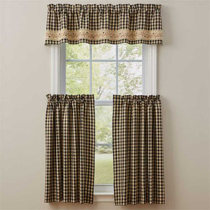 Valance et tiers carreauté Berry Gingham
