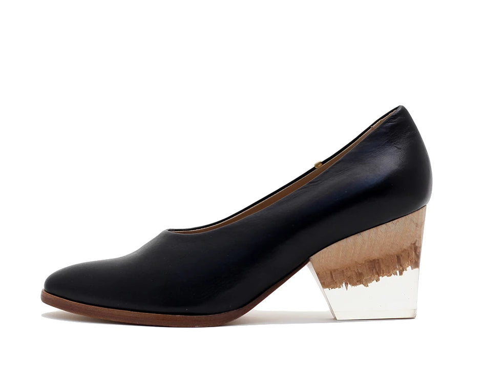 Bayou Heel Black and Broken Plexi Heel