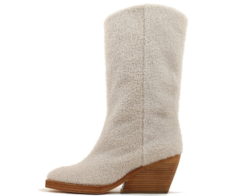 Boy Shearling Boot Natural
