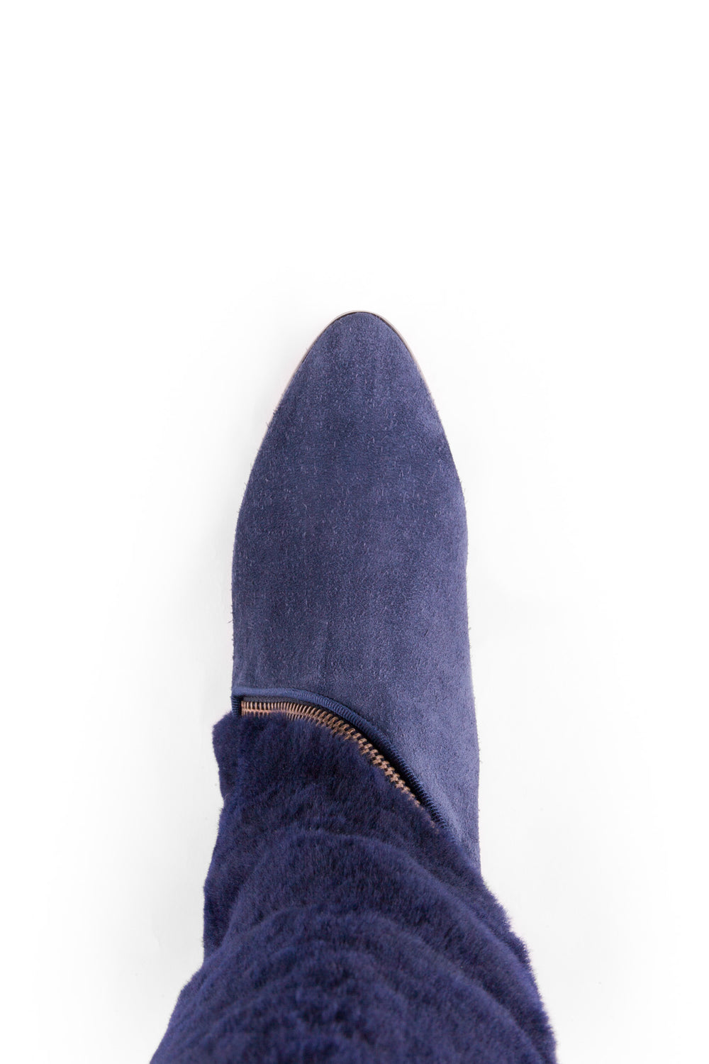 The Gilliam in navy shearling