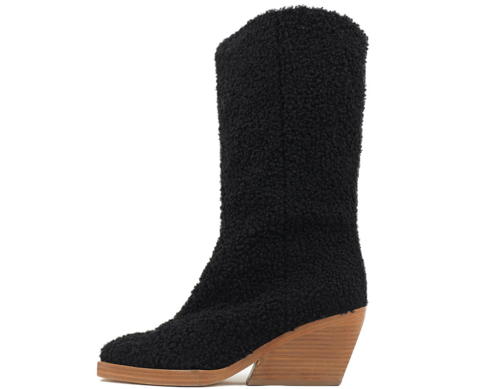 Boy Shearling Boot Black