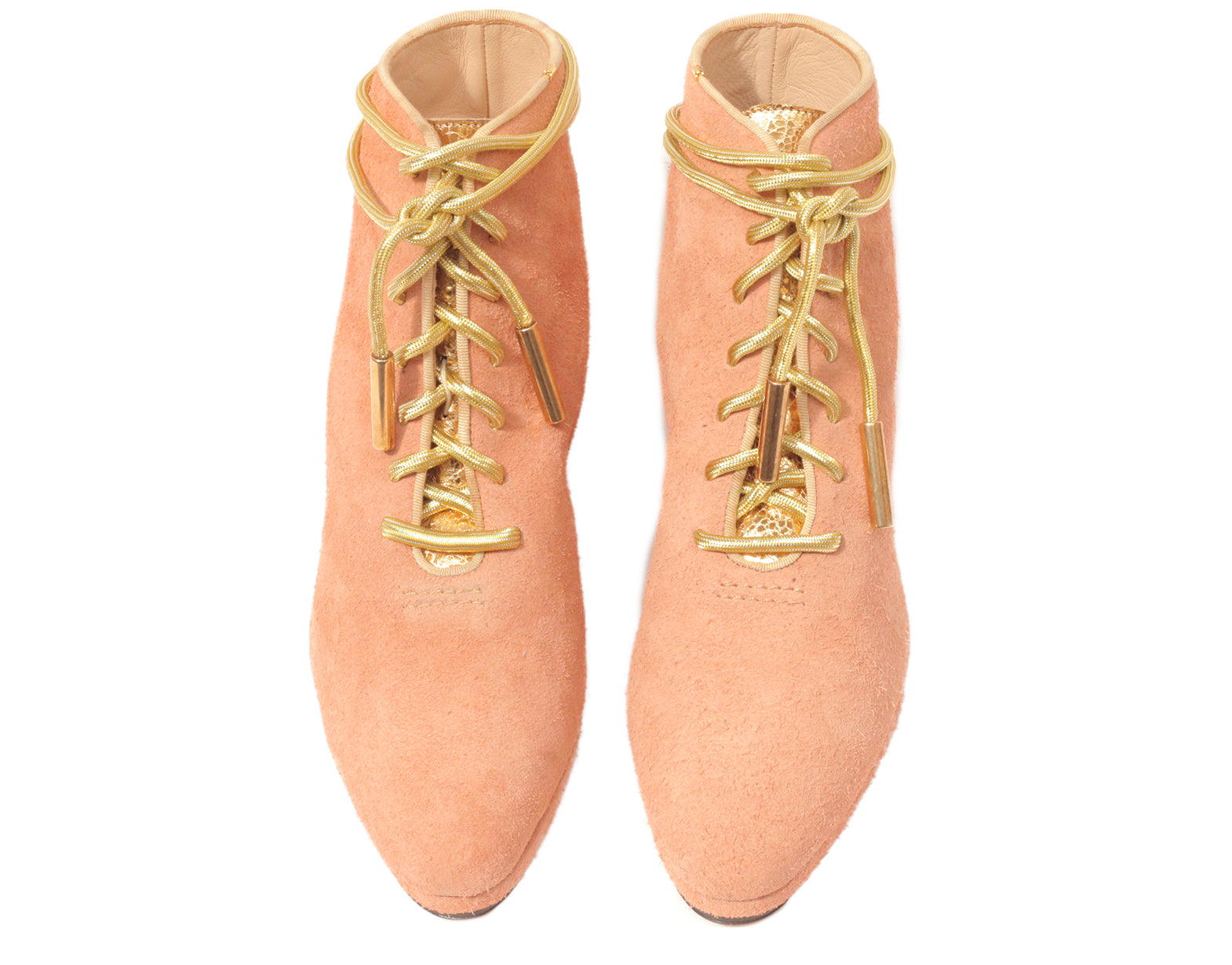 New Zachary Lace Up Boot Goldflesh