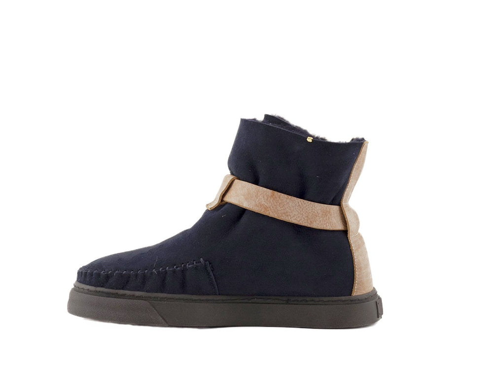 Ted Navy Black Shearling