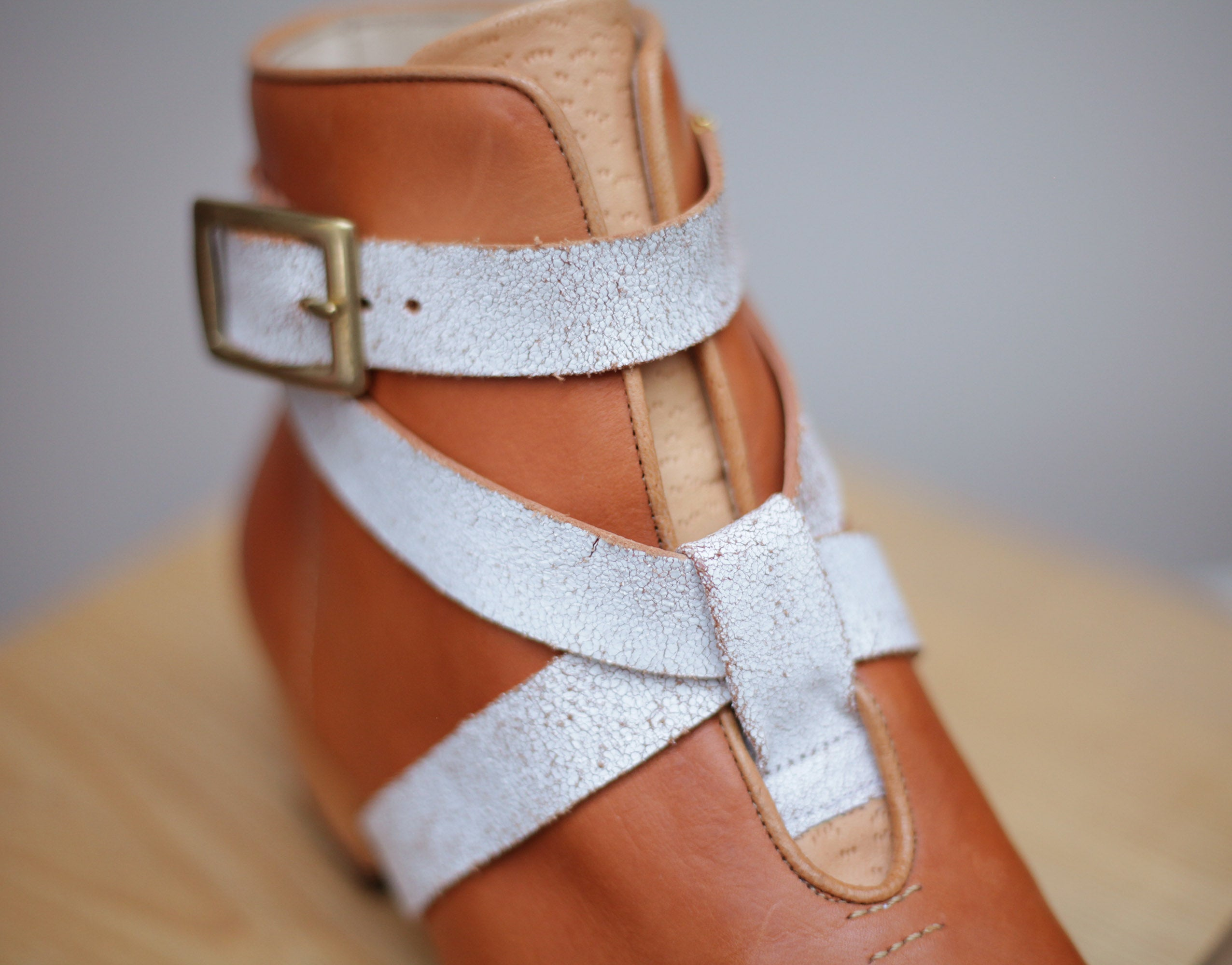 Zac Strapped Boot Natural