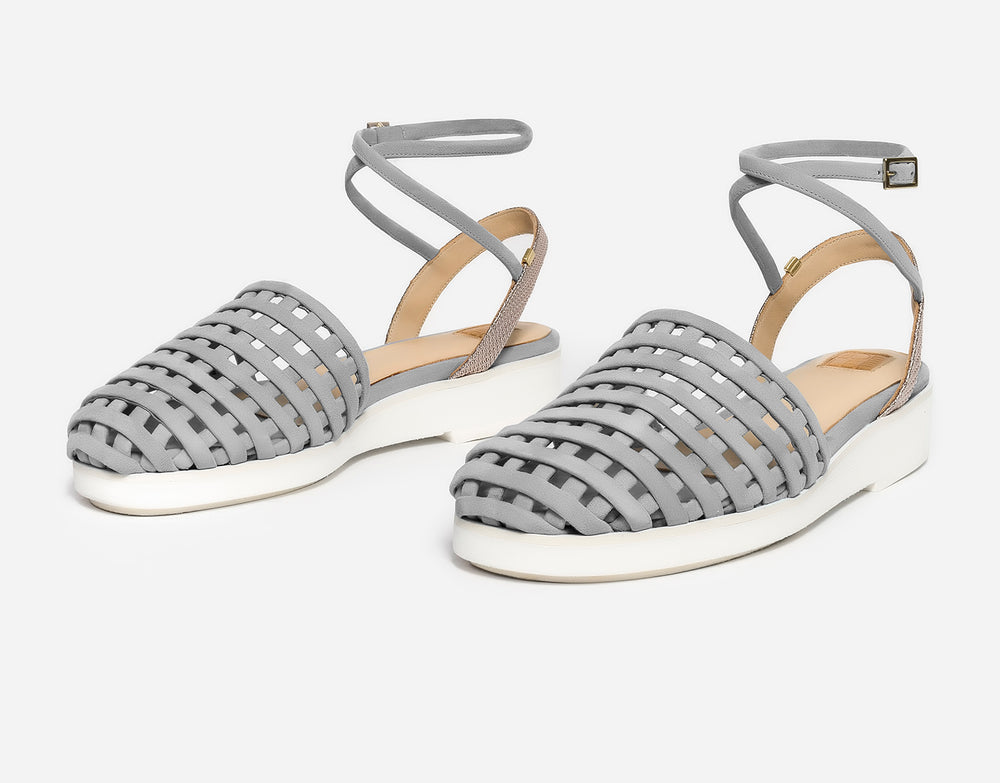 Grand Metallic Grey Sandal