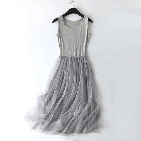 O-neck Tulle Summer Dress