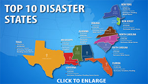 United State Natural Disaster Map