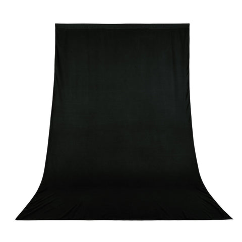 6x9Ft Black Photo Backdrop Polyester Fabric Background Screen Photo Video Studio Portrait Shooting