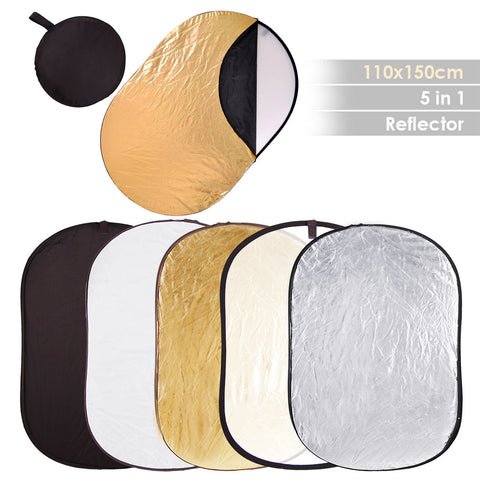 "5 in 1 40x60""(110x150cm) Collapsible Multi Photography Light Reflector"