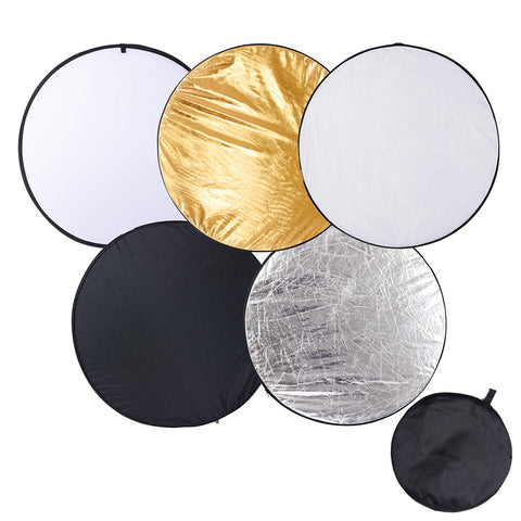 43inch / 110cm 5in1 Collapsible Light Reflector Panel Diffuser with