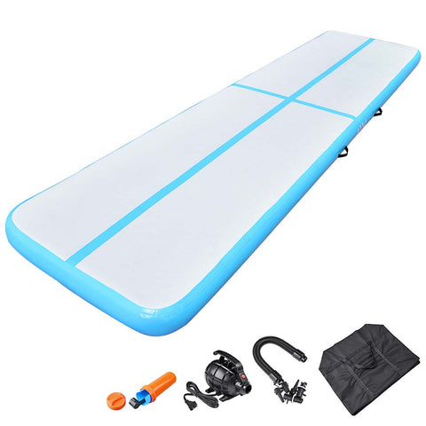 AW 13 Ft Air Track Inflatable Tumbling Mat Gymnastics Training Fitness Home Gym