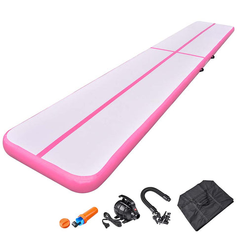AW 20 Ft Inflatable Tumbling Mat Air Track Gymnastics Cardio Dance Fitness Home