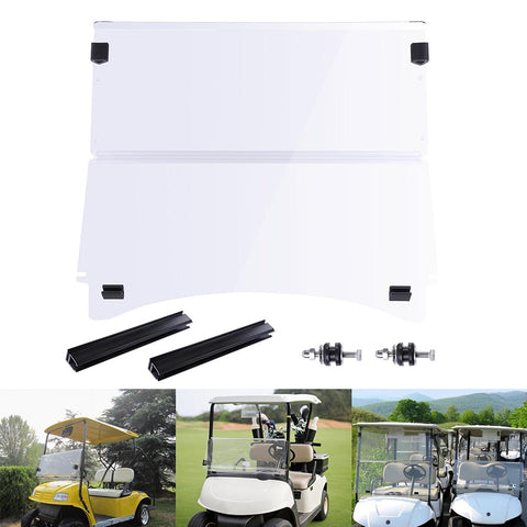 Fold Down Golf Cart Windshield Impact Resistant Acrylic Split
