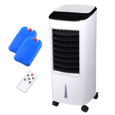 Evaporative Cooler Portable Air Cooler Humidifier with Remote Control Ice Pack Energy Saving Indoor Outdoor 65W