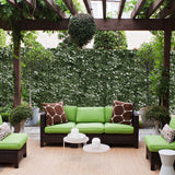 "39""x158"" Artificial Faux Ivy Leaf Fence Screen Decoration Panel Mesh"