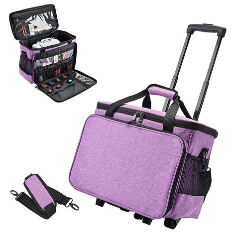 Sewing Machine Rolling Case Portable Multiple Pockets Large Compartment Travel