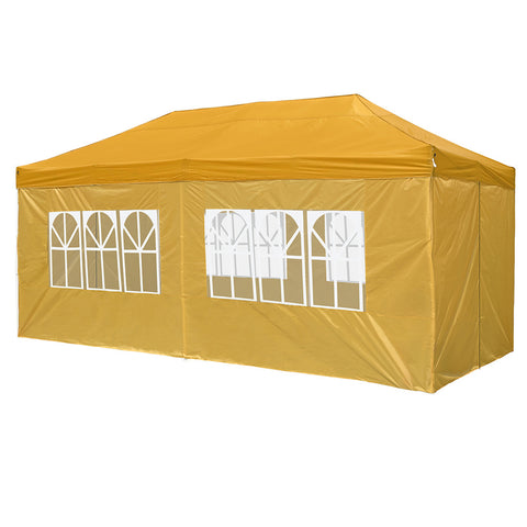InstaHibit 10x20Ft Pop Up Canopy with 4 Sidewalls Window Zipper Door Party