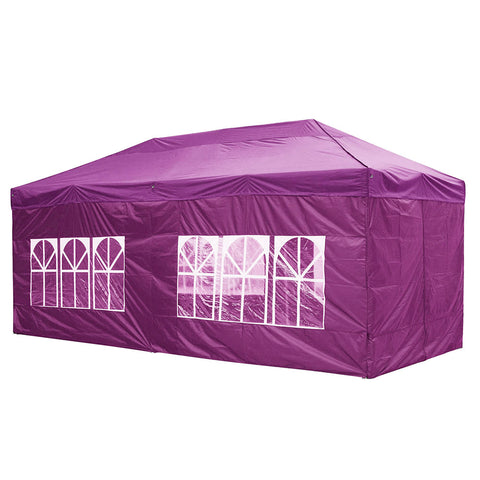 InstaHibit 10x20Ft Pop Up Canopy with 4 Sidewalls Window Zipper Door Backyard