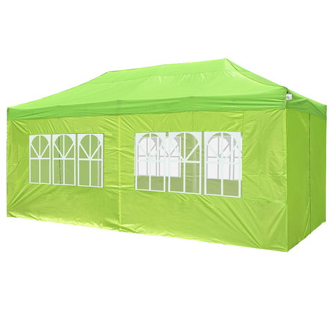 InstaHibit 10x20Ft Pop Up Canopy with 4 Sidewalls Window Zipper Door Lawn Deck
