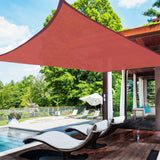 18x18' Square Sun Shade Sail Canopy Cover Uv Blocking (Dark Red)