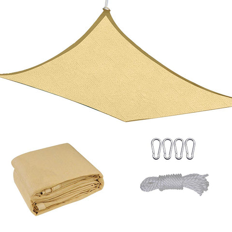 16 x 12 Ft Rectangle Sun Shade Sail UV Top Outdoor Canopy Patio Lawn