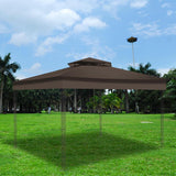 "2 Tier Gazebo Replacement for Sunjoy L-GZ339PAL 12""x10"" Brown"