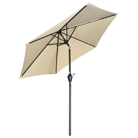 7.5Ft Outdoor Table Patio Umbrella Crank Tilt Sunshade for Yard Deck Market Pool