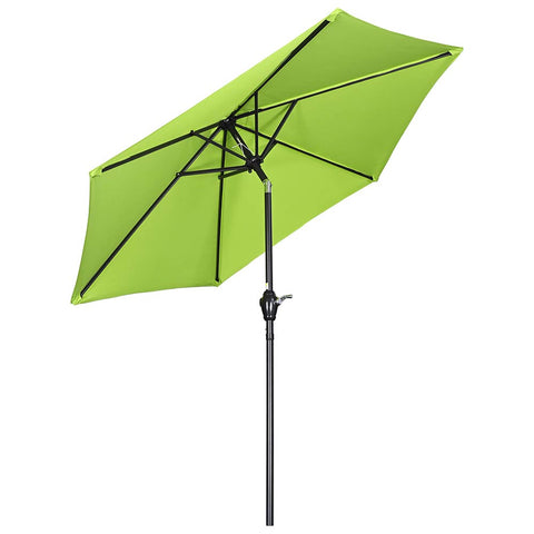 7.5Ft Outdoor Table Patio Umbrella Crank Tilt Sunshade for Backyard Poolside