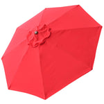 8Ft 8 Ribs Patio Umbrella Replacement Cover Top Canopy Outdoor