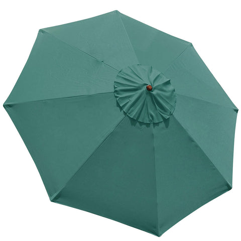 9' 8 Ribs Umbrella Canopy Replacement Patio Top Cover Beach Yard