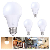 4 Pack 12W A22 LED Light Bulbs E27 3000K Warm White Equivalent to
