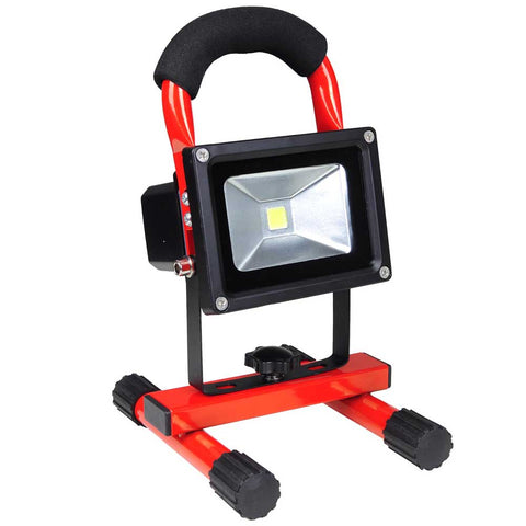 Rechargeable 10W LED Waterproof LED Flood Security Spot Light Red