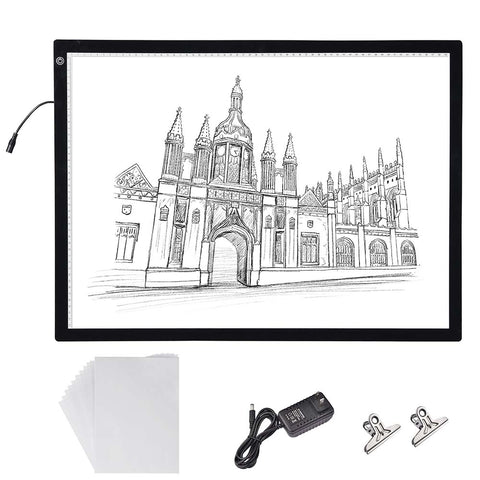 "25""x19"" A2 LED Light Box Copy Pad Tracing Drawing Board Dimming Artist Tattoo"