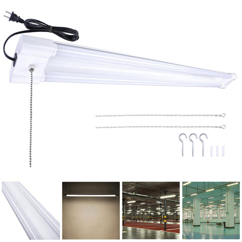 "1x4"" LED Shop Light Ceiling Hanging Utility Light Features 40W 4000K"
