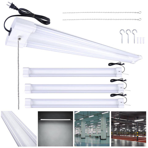 4x4 Ft LED Shop Light Ceiling Hanging Utility Light Features 40W 5000K