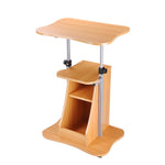 Adjustable Height Rolling Mobile Stand Laptop Desk Beech