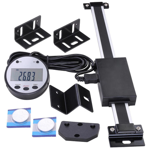 "6"" Remote Digital DRO Quill Large LCD Readout Scale Measure Range"