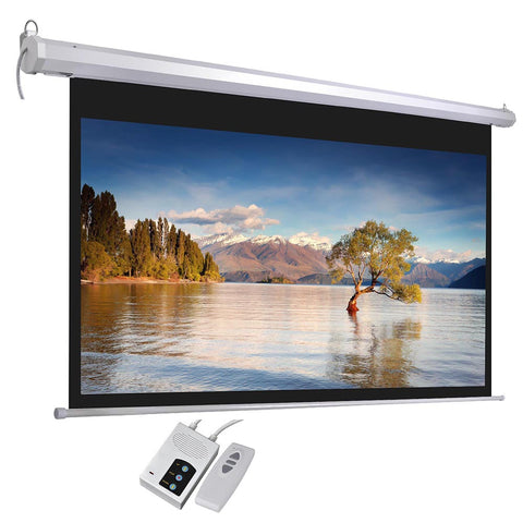 "100"" 16:9 Electric Motorized Projector Screen Auto with Remote Control"