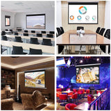 "72"" 16:9 Manual Pull Down Projector Screen Self-Locking Home Meeting"