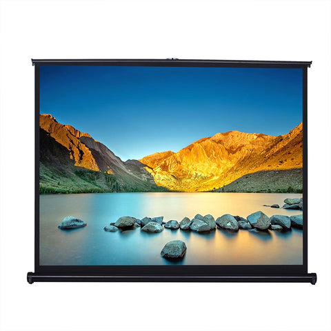 "50"" 4:3 Tabletop Pull-Up Projector Screen Portable Easy Pullout Fast"