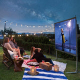 "120"" Portable Fast Folding Projector Screen 16:9 HD with Stand and"