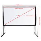 Outdoor Projection Screen PVC w/ Metal Stand 120in 16:9